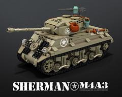 M4A3_SHERMAN_front (bijanz) Tags: army tank lego military ww2 worldwar fury sherman m4a3 legotank