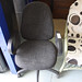 Charcoal swivel office chair