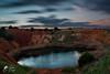 Contrast (lulo92) Tags: contrast red blu sky dark cloud clouds nuvole lago bauxite di mare otranto lecce puglia nikontop top nikon samyang