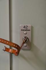 locker 42 (farlukar) Tags: museumoflondon lock locker key wristband 42 marathon thistagsignifiestheanswertolifetheuniverseandeverythingandalsoarunningdistance london