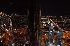 Burj Khalifa viewing platform (Andy Coe) Tags: dubai burj khalifa elevator 124th floor observation deck platform high views night long exposure dark jewels lights people lifts fountain display water