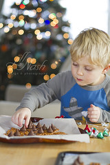 Fine motor + treats! (grilljam) Tags: december2016 winter makingreindeernoses firsttreatsoftheseason christmascandy seamus 4yrs