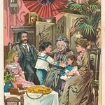 Jugend garten laube 1905   kleurenlitho e