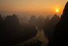 Lijiang (GavinZ) Tags: sun sunrise landscape mountains asia china river yangshuo lijiang morning xianggong 中国 广西