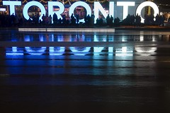 Blue Toronto Sign (Stephen Gardiner) Tags: toronto ontario 2016 nathanphillipssquare newcityhall soundcrowd choir carols pentax k3ii 1645