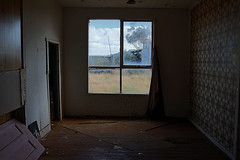 LOOKING OUT - ID HEARN MACKINNON (ID Hearn Mackinnon) Tags: looking out id hearn mackinnon window house home farm farmhouse 2016 victoria victorian australia australian west old building wooden abandoned rural country outback bush photographer