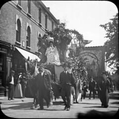 img658 (foundin_a_attic) Tags: antique magic lantern slides glass vintage prade labour union labor since june 27th 1691 men hourse hats caps march dress fashion