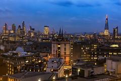 London Kimble View... (JH Images.co.uk) Tags: london blue hour night shard towerbridge bridge city skyline st stpauls pauls dri hdr art architecture clouds skyscrapers cityscape