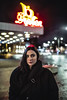 vilma n cinemas (-Alfred-) Tags: canon 1dx sigma 35mm art light dark red portrait girl gothenburg sweden outdoor night