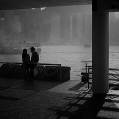 (a.pierre4840) Tags: olympus omd em5 mzuiko 25mm f18 candid harbour victoriaharbour hongkong starferry love bw blackandwhite monochrome noiretblanc squareformat 11 atmosphere shadows