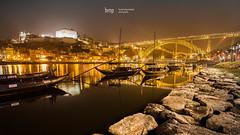 porto on the rocks (bmp | bruno martins photography) Tags: porto oporto portugal douro river rio night noite water yellow