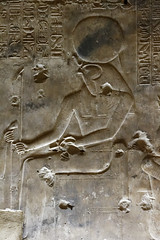 Wall Relief of Re Horakhty (Chris Irie) Tags: egypt abydos temple relief re horakhty