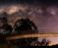 Walkway under the Milky Way - Serpentine, Western Australia (inefekt69) Tags: westernaustralia australia great rift panorama stitched mosaic ptgui landscape astrophotography astronomy stars galaxy milkyway galactic core space night nightphotography nikon 50mm d5100 dslr long exposure perth southern southernhemisphere cosmos cosmology dam serpentine serpentinedam road outdoor sky landscapeastrophotography mars