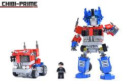9. Chibi-Prime Scale (Sam.C MOCs (S2 Studios)) Tags: lego transformers optimus prime chibi moc mech robot anime scifi car truck