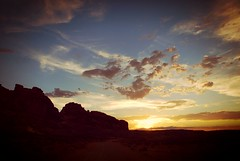 Moab Sunset (Never Exceed Speed) Tags: moab utah sunset clouds hills