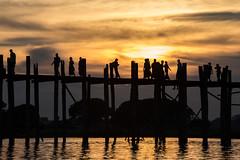 U-Bein bridge, Mandalay (mgirard011) Tags: asie lieux myanmarbirmanie mandalay mandalayregion mm 100faves