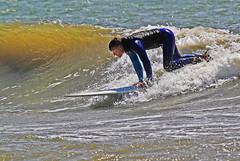 Ny surfare 2 (Quo Vadis2010) Tags: westcoast västkusten kattegatt hallandslän halland municipalityofhalmstad halmstadkommun halmstad sandhamn görvik cityofsurfers wavesurfing wavesurf vågsurfing vågsurf surfing surf vågor våg sea hav beach strand surfbräda bräda sport activity aktivitet lifestyle livsstil se