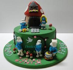 smurfs cake (deelicious1978) Tags: cake smurfs