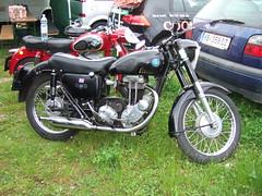 AJS 16 MS - 1957 (John Steam) Tags: vintage austria meeting motorbike 350 motorcycle 1957 oldtimer trophy omg obersterreich ajs motorrad attersee nussdorf oldtimertreffen nusdorf 16ms bergpreis