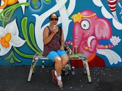 The First Lady of Graffiti (Eddie C3) Tags: newyorkcity streetart art graffiti graffitiartist astoriaqueens ladypink wellingcourt wellingcourtmuralproject 6thannualwellingcourtmuralproject