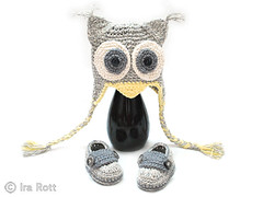 crochet_owl_hat_with_booties_1 (IraRott) Tags: hat animal pattern crochet owl booties babybooties crochetpattern animalpattern irarott