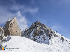 Across the snow ridge (HendrikMorkel) Tags: mountains alps mountaineering chamonix alpineclimbing artedescosmiques arcteryxalpineacademy2015