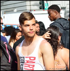 SF Pride - 2015 - Bieber? (Little Italy Photography) Tags: sanfrancisco california costumes shirtless white black hot men boys face mexico grove market cityhall muscle chest rear ripped marriage peanuts glbt pride front tattoos butts lgbt latin bayarea kansas guns backs wrestlers ido civiccenter gotmilk larkin equality polk equal mcallister singlet bieber crotches paintedfaces bulges lovewins goldengatestreet squrtgun nikond7100 gaypride2015 nikon35mmf18gafsdxnikkorlens sfpride2015 pride2015