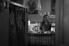 Portrait, Ziro Arunachal Pradesh India (mafate69) Tags: portrait blackandwhite bw india man restaurant asia candid photojournalism indoor tibetan asie himalaya himalayas homme inde arunachal southasia subcontinent photojournalisme arunachalpradesh ziro indiahimalayas photoreportage asiedusud earthasia himalayasproject mafate69 souscontinent