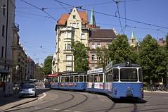 Nachschuss auf 2005/3004 an der Wörthstraße (Frederik Buchleitner) Tags: 2005 museum munich münchen tram shuttle streetcar 3004 mvg trambahn pwagen fmtm linie7 strasenbahn mvgmuseum museumslinie freundedesmünchnertrambahnmuseums