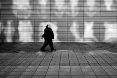 An apparition (RoryO'Bryen) Tags: ghost apparition cambridge street streetphotography roryobryen copyrightroryobryen rangefinder leicam leicamp 35mmsummiluxmasph kodaktrix iso400 shadows reflections