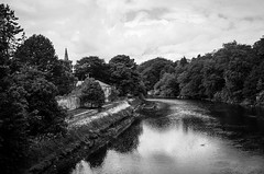 The River Coquet . (wayman2011) Tags: trees reflections coast churches villages northumberland rivers fujifilm warkworth lightroom rivercoquet bwlandscapes fujifilmx100 wayman2011