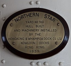 Northern Star (BushmanW12) Tags: ferry plaque hongkong star hull northern northernstar