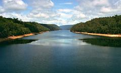 Oct 1995 - View SW across Lake Burragorang from Warragamba Dam, New South Wales, Australia (aussiejeff) Tags: warragamba dam nsw newsouthwales australia water lake river burragorang jeffc aussiejeff