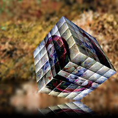 Once you have solved the mysteries of life, what then? (Allan Saw) Tags: river surreal puzzle cube reflecton