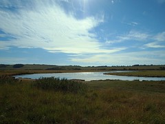 Cuckmere Haven (ekaterina alexander) Tags: light england sky cloud haven water field clouds reflections river landscape sussex countryside flood outdoor country estuary planes fields alexander cuckmere ekaterina