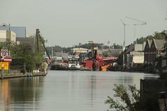 kraancrash Julianabrug-7293 (leoval283) Tags: bridge crash cranes pontoons ponton alphenaandenrijn alphen julianabrug hijskranen brugdek
