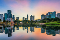 Mirrow lake (edwards_sie) Tags: sunrise lake mirrow klcc reflect glass smooth peace