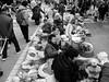 Korea traditional market. (karaskwon) Tags: monochrome traditional market korea fujifilm x30 shopkeeper sale grandmother