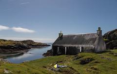 Manish, Isle of Harris (The Flying Monk) Tags: seaview moonlight nightphotography longexposure tinroof abandoned derelict isleofharris outerhebrides westernisles scotland baysofharris