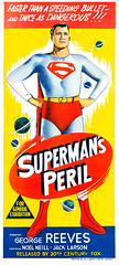 Superman's Peril (1954), Australian poster (Tom Simpson) Tags: vintage film movie poster posterart movieposter illustration supermansperil 1954 superman 1950s georgereeves comics comicbook