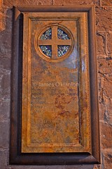 Memorial tablet (James O'Hanlon) Tags: chester cheshire john baptist johnthebaptist church cathedral ruins norman medieval effigy stained glass chapel saint st