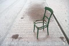 Winter Story about Green Chair (Kojotisko) Tags: panasoniclumixdmcft2 streetphoto streetphotography brno czechrepublic chair winter creativecommons czechia
