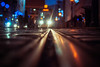 pedestrian limo (ewitsoe) Tags: tram tracks run winter autumn city night rife limo fun ewitsoe nikon d80 35mm life living cityscpae lights christmas holidays december