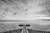 Afsluitdijk (Jantje Fatsoen) Tags: 1020 afsluitdijk basalt blackandwhite clouds contrast contrasty dike fog horizon ijsselmeer kornwerderzand lake landscape landschap longexposure meer mole nd pier rocks sea waddenzee water wideangle wolken zwartwit