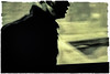 Walking Blind (Astroredg) Tags: monochrome walking blind walkingblind marchant marche aveugle art modern modernart pop popart expressionism expressionnisme paved road pavedroad chemin route destin destiny man homme coat manteau yellow jaune minimalist minimaliste minimalistic