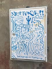 Neptune Stuff (helixgraffiti) Tags: neptune waves doodled street art paint graff graffiti helix 2016 ireland currane