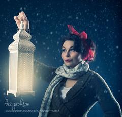 Snow on New Year's Eve (barbara.jackson55) Tags: beejacksonphotography canon24105f4 honeymalone studiolighting snow winter lantern elinchrom