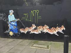 The Queen out for a ride (Matt From London) Tags: queen corgis streetart dogs chariot bethnalgreen