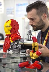 Taking care of Iron Man... (ZetoVince) Tags: zeto vince zetovince lego lug exhibition athenscon iron man ironman george panteleon greek
