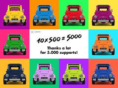 10 x 500 = 5000 thanks! (gabriele.zannotti) Tags: mecabricks blender render 3d lego ideas fiat 500